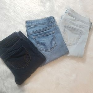 Hollister 3 Skinny Jean Leggings Bundle 5L W27 L31